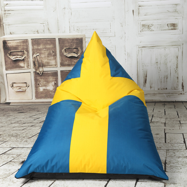 visi triangle flag printing lazy sofa bean bag lounge