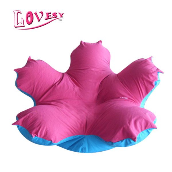 visi flower shape lazy sofa bean bag lounge