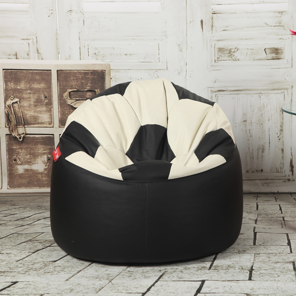 visi football lazy beanbags back chair