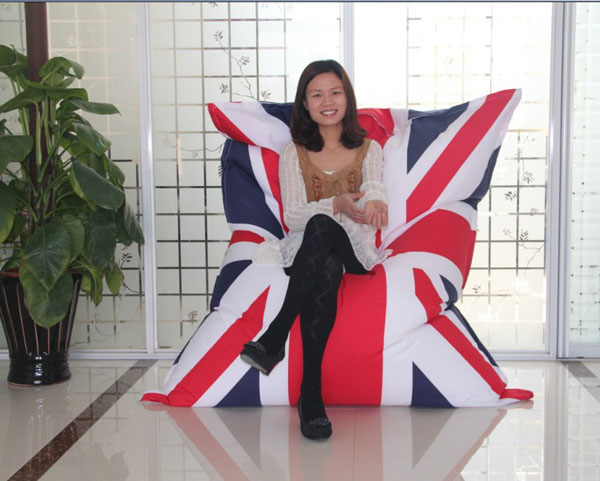visi rectangular flag printing  london union jack bean bag chair lounge